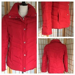 Kenneth Cole Reaction Red Down Puffer Jacket SZ L